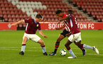 SOUTHAMPTON, ENGLAND - MAY 03: Marcus Barnes (middle)  during the U23s PL2 Play off Semi-Final between Southampton FC and Aston Villa FC pictured at St Mary's Stadium on May 03, 2019 in Southampton, England. (Photo by James Bridle - Southampton FC/Southampton FC via Getty Images)