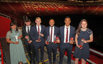 Award winners L to R, Shannon Sievwright, Will Ferry, James Ward-Prowse, Nathan Redmond, Yan Valery and Caitlin Smith during the 2018/19 Southampton FC Player Awards night, at St Mary's Stadium, Southampton, 7th May 2019