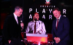 Nathan Redmond and Ralph Hasenhuttl during the 2018/19 Southampton FC Player Awards night, at St Mary's Stadium, Southampton, 7th May 2019