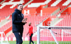 SOUTHAMPTON, ENGLAND - MAY 08: Ralph Hasenhuttl claps the crowds that have come to watch a Southampton FC open training session at St Mary's Stadium on May 08, 2019 in Southampton, England. (Photo by James Bridle - Southampton FC/Southampton FC via Getty Images)