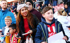 SOUTHAMPTON, ENGLAND - MAY 08: fans await signatures from players during a Southampton FC open training session at St Mary's Stadium on May 08, 2019 in Southampton, England. (Photo by James Bridle - Southampton FC/Southampton FC via Getty Images)