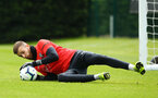 SOUTHAMPTON, ENGLAND - MAY 09: Angus Gunn during a Southampton FC training session pictured at Staplewood Training Ground on May 9, 2019 in Southampton, England. (Photo by James Bridle - Southampton FC/Southampton FC via Getty Images)