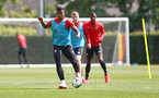 SOUTHAMPTON, ENGLAND - MAY 10: Mario Lemina during a Southampton FC training session at the Staplewood Campus on May 10, 2019 in Southampton, England. (Photo by Matt Watson/Southampton FC via Getty Images)