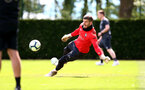 SOUTHAMPTON, ENGLAND - MAY 10: Fraser Forster saves during a Southampton FC training session at the Staplewood Campus on May 10, 2019 in Southampton, England. (Photo by Matt Watson/Southampton FC via Getty Images)