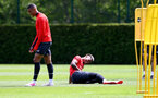 SOUTHAMPTON, ENGLAND - MAY 10: Mario Lemina(R) laughs with Yan Valery(L) during a Southampton FC training session at the Staplewood Campus on May 10, 2019 in Southampton, England. (Photo by Matt Watson/Southampton FC via Getty Images)