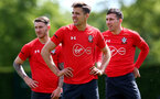 SOUTHAMPTON, ENGLAND - MAY 10: Jan Bednarek(centre) during a Southampton FC training session at the Staplewood Campus on May 10, 2019 in Southampton, England. (Photo by Matt Watson/Southampton FC via Getty Images)
