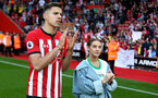 SOUTHAMPTON, ENGLAND - MAY 12: Jan Bednarek during the Premier League match between Southampton FC and Huddersfield Town at St Mary's Stadium on May 12, 2019 in Southampton, United Kingdom. (Photo by Matt Watson/Southampton FC via Getty Images)