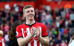 SOUTHAMPTON, ENGLAND - MAY 12: Matt Targett of Southampton during the Premier League match between Southampton FC and Huddersfield Town at St Mary's Stadium on May 12, 2019 in Southampton, United Kingdom. (Photo by Matt Watson/Southampton FC via Getty Images)