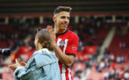 SOUTHAMPTON, ENGLAND - MAY 12: Jan Bednarek during the lap of honor for the Premier League match between Southampton FC and Huddersfield Town at St Mary's Stadium on May 12, 2019 in Southampton, United Kingdom. (Photo by James Bridle - Southampton FC/Southampton FC via Getty Images)