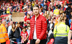 SOUTHAMPTON, ENGLAND - MAY 12: Callum Slattery during the lap of honor after the Premier League match between Southampton FC and Huddersfield Town at St Mary's Stadium on May 12, 2019 in Southampton, United Kingdom. (Photo by James Bridle - Southampton FC/Southampton FC via Getty Images)