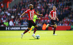 SOUTHAMPTON, ENGLAND - MAY 12: Nathan Redmond (middle) during the Premier League match between Southampton FC and Huddersfield Town at St Mary's Stadium on May 12, 2019 in Southampton, United Kingdom. (Photo by James Bridle - Southampton FC/Southampton FC via Getty Images)