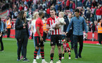 SOUTHAMPTON, ENGLAND - MAY 12: Pierre-Emile Hojbjerg. Lap of appreciation after the Premier League match between Southampton FC and Huddersfield Town at St Mary's Stadium on May 12, 2019 in Southampton, United Kingdom. (Photo by Chris Moorhouse/Southampton FC)