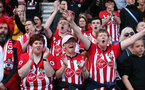 SOUTHAMPTON, ENGLAND - MAY 12: Saints fans. Lap of appreciation after the Premier League match between Southampton FC and Huddersfield Town at St Mary's Stadium on May 12, 2019 in Southampton, United Kingdom. (Photo by Chris Moorhouse/Southampton FC)