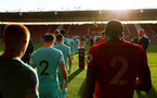 SOUTHAMPTON, ENGLAND - MAY 13: Players walk out of the tunnel ahead of kick off for the U23s PL2 Play off final between Southampton and Newcastle United pictured at St. Mary's Stadium on May 13, 2019 in Southampton, England. (Photo by James Bridle - Southampton FC/Southampton FC via Getty Images)