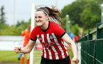 SOUTHAMPTON, ENGLAND - MAY 19: Ella Pusey scores and celebrates during the Womens Cup Final match between Southampton FC and Oxford pictured at AFC Totten on May 19, 2019 in Southampton, England. (Photo by James Bridle - Southampton FC/Southampton FC via Getty Images)
