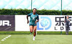 SOUTHAMPTON, ENGLAND - JULY 02: Mario Lemina during Southampton FC's second day of pre season training at the Staplewood Campus on July 02, 2019 in Southampton, England. (Photo by Matt Watson/Southampton FC via Getty Images)