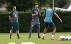 SOUTHAMPTON, ENGLAND - JULY 03: Assistant Manager Danny Röhl(centre) during a Southampton FC pre-season training session at the Staplewood Campus on July 03, 2019 in Southampton, England. (Photo by Matt Watson/Southampton FC via Getty Images)