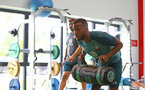 SOUTHAMPTON, ENGLAND - JULY 03: Ryan Bertrand during a Southampton FC pre-season gym session at the Staplewood Campus on July 03, 2019 in Southampton, England. (Photo by Matt Watson/Southampton FC via Getty Images)