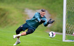 SCHRUNS, AUSTRIA - JULY 08: Fraser Forster during a Southampton FC pre season training session, on July 08, 2019 in Schruns, Austria. (Photo by Matt Watson/Southampton FC via Getty Images)
