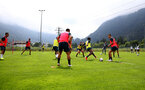 SCHRUNS, AUSTRIA - JULY 09: A general view during a Southampton FC pre-season training session, on July 09, 2019 in Schruns, Austria. (Photo by Matt Watson/Southampton FC via Getty Images)