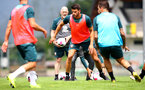 SCHRUNS, AUSTRIA - JULY 09: Wesley Hoedt during a Southampton FC pre-season training session, on July 09, 2019 in Schruns, Austria. (Photo by Matt Watson/Southampton FC via Getty Images)