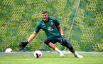 SCHRUNS, AUSTRIA - JULY 09: Fraser Forster during a Southampton FC pre-season training session, on July 09, 2019 in Schruns, Austria. (Photo by Matt Watson/Southampton FC via Getty Images)