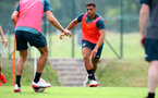 SCHRUNS, AUSTRIA - JULY 09: Che Adams during a Southampton FC pre-season training session, on July 09, 2019 in Schruns, Austria. (Photo by Matt Watson/Southampton FC via Getty Images)