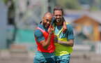 SCHRUNS, AUSTRIA - JULY 10: Nathan Redmond(L) and Danny Ings during a pre season training session on July 10, 2019 in Schruns, Austria. (Photo by Matt Watson/Southampton FC via Getty Images)