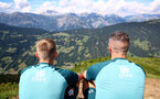 SCHRUNS, AUSTRIA - JULY 10: James Ward-Prowse(L) and Fraser Forster during a pre season team walk on July 10, 2019 in Schruns, Austria. (Photo by Matt Watson/Southampton FC via Getty Images)