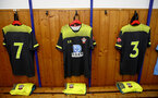 ALTACH, AUSTRIA - JULY 14: Southampton FC away kit pictured inside the dressing room ahead of the pre-season friendly match between SCR Altach and Southampton FC at The Cashpoint Arena on July 14, 2019 in Altach, Austria. (Photo by Matt Watson/Southampton FC via Getty Images)