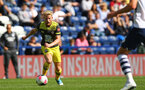 PRESTON, ENGLAND - JULY 20: Josh Sims (left) during the pre-season friendly game between Preston North End and Southampton FC pictured at Deepdale on July 20, 2019 in Preston, England. (Photo by James Bridle - Southampton FC/Southampton FC via Getty Images)