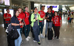 Fans meet players as Southampton FC arrive at Hong Kong Airport, for their Pre Season trip to Macau, China, 22nd July 2019