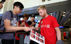 Josh Sims as Southampton FC arrive at Hong Kong Airport, for their Pre Season trip to Macau, China, 22nd July 2019