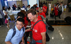 Ralph Hasenhuttl as Southampton FC arrive at Hong Kong Airport, for their Pre Season trip to Macau, China, 22nd July 2019