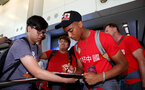 Yan Valery as Southampton FC arrive at Hong Kong Airport, for their Pre Season trip to Macau, China, 22nd July 2019