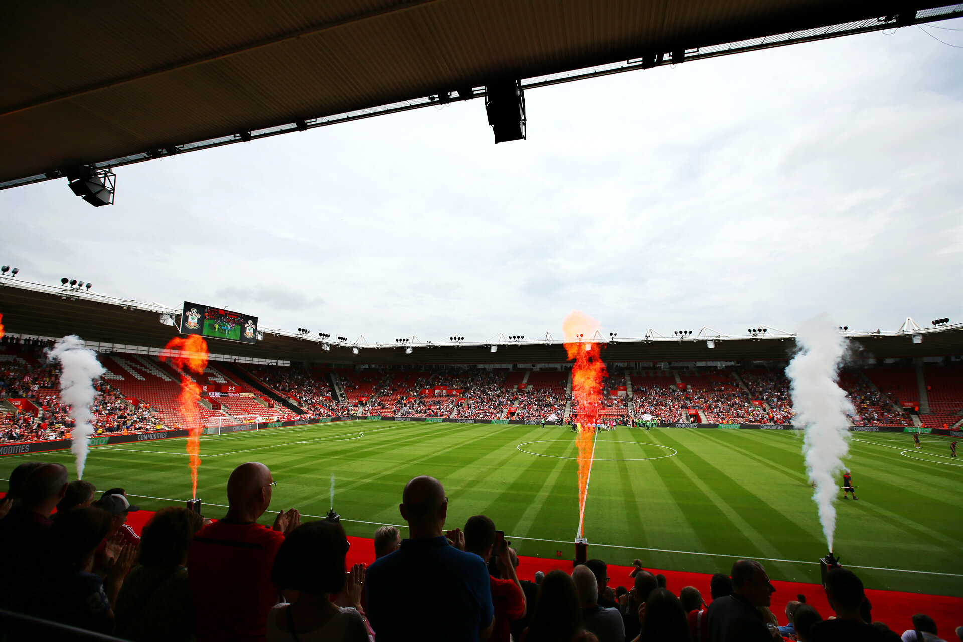 SOUTHAMPTON, ENGLAND - AUGUST 03: General view ahead of Kick off for the Pre-Season Friendly match between Southampton FC and FC Köln pictured at St. Mary's Stadium on August 03, 2019 in Southampton, England. (Photo by James Bridle - Southampton FC/Southampton FC via Getty Images)