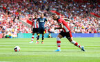 SOUTHAMPTON, ENGLAND - AUGUST 03: Danny Ings of Southampton misses a penalty during the Pre-Season Friendly match between Southampton FC and FC Köln at St. Mary's Stadium on August 03, 2019 in Southampton, England. (Photo by Matt Watson/Southampton FC via Getty Images,)