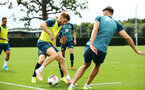 SOUTHAMPTON, ENGLAND - AUGUST 08: Stuart Armstrong during a first team training session pictured at Staplewood Training Ground on August 06, 2019 in Southampton, England. (Photo by James Bridle - Southampton FC/Southampton FC via Getty Images)