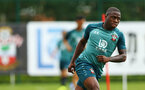 SOUTHAMPTON, ENGLAND - AUGUST 08: Michael Obafemi during a first team training session pictured at Staplewood Training Ground on August 06, 2019 in Southampton, England. (Photo by James Bridle - Southampton FC/Southampton FC via Getty Images)