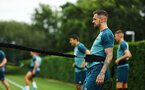 SOUTHAMPTON, ENGLAND - AUGUST 08: Danny Ings during a first team training session pictured at Staplewood Training Ground on August 06, 2019 in Southampton, England. (Photo by James Bridle - Southampton FC/Southampton FC via Getty Images)