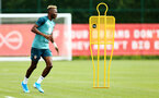 SOUTHAMPTON, ENGLAND - AUGUST 08: Moussa Djenepoduring a first team training session pictured at Staplewood Training Ground on August 06, 2019 in Southampton, England. (Photo by James Bridle - Southampton FC/Southampton FC via Getty Images)