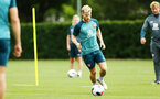 SOUTHAMPTON, ENGLAND - AUGUST 08: Josh Sims (middle) during a first team training session pictured at Staplewood Training Ground on August 06, 2019 in Southampton, England. (Photo by James Bridle - Southampton FC/Southampton FC via Getty Images)
