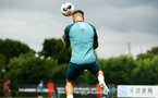 SOUTHAMPTON, ENGLAND - AUGUST 07: Danny Ings heads the ball during a Southampton FC training session pictured at Staplewood Training Ground on August 07, 2019 in Southampton, England. (Photo by James Bridle - Southampton FC/Southampton FC via Getty Images)