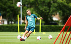 SOUTHAMPTON, ENGLAND - AUGUST 07: James Ward-Prowse during a Southampton FC training session pictured at Staplewood Training Ground on August 07, 2019 in Southampton, England. (Photo by James Bridle - Southampton FC/Southampton FC via Getty Images)