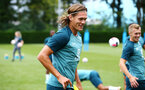 SOUTHAMPTON, ENGLAND - AUGUST 08: Jannik Vestergaard during a Southampton FC Training Session pictured at Staplewood Training Ground on August 08, 2019 in Southampton, England. (Photo by James Bridle - Southampton FC/Southampton FC via Getty Images)