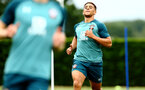 SOUTHAMPTON, ENGLAND - AUGUST 08: Che Adams (right) during a Southampton FC Training Session pictured at Staplewood Training Ground on August 08, 2019 in Southampton, England. (Photo by James Bridle - Southampton FC/Southampton FC via Getty Images)