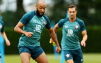 SOUTHAMPTON, ENGLAND - AUGUST 08: Nathan Redmond during a Southampton FC Training Session pictured at Staplewood Training Ground on August 08, 2019 in Southampton, England. (Photo by James Bridle - Southampton FC/Southampton FC via Getty Images)