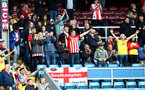 BURNLEY, ENGLAND - AUGUST 10: Saints fans during the Premier League match between Burnley FC and Southampton FC at Turf Moor on August 10, 2019 in Burnley, United Kingdom. (Photo by Matt Watson/Southampton FC via Getty Images)