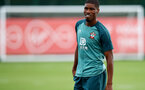 SOUTHAMPTON, ENGLAND - AUGUST 13: Kevin Danso during a Southampton FC training session at the Staplewood Campus on August 13, 2019 in Southampton, England. (Photo by Matt Watson/Southampton FC via Getty Images)