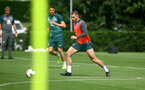SOUTHAMPTON, ENGLAND - AUGUST 13: Pierre-Emile Hojbjerg during a Southampton FC training session at the Staplewood Campus on August 13, 2019 in Southampton, England. (Photo by Matt Watson/Southampton FC via Getty Images)